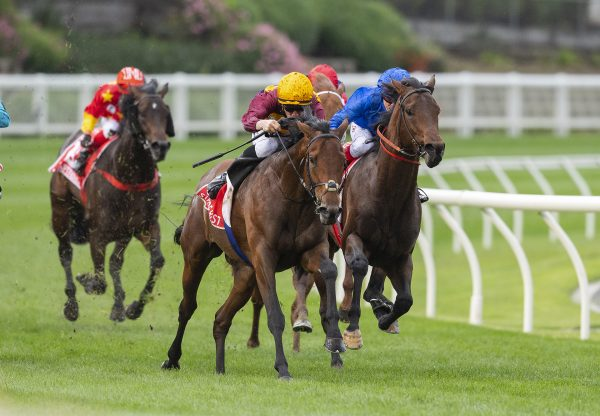 State Of Rest (Starspangledbanner) winning the Gr.1 Cox Plate at Moonee Valley