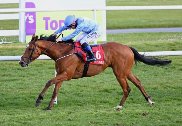 Marie's Diamond (Footstepsinthesand) winning the G3 Anglesey Stakes at the Curragh