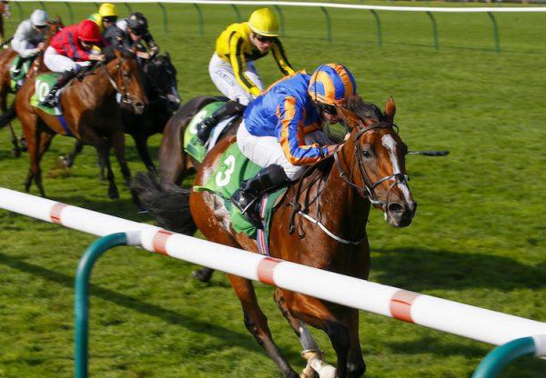 Clemmie (Galileo) winning the Cheveley Park Stakesat Newmarket