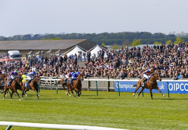 Gleneagles (Galileo) winning the G1 2000 Guineas at Newmarket