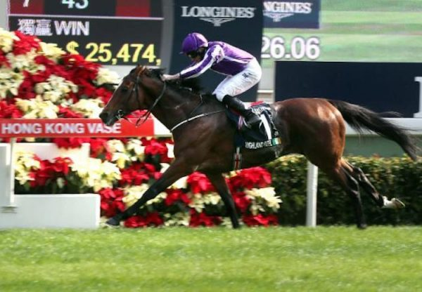Highland Reel (Galileo) winning the G1 G1 Longines Hong Kong Vase at Sha Tin