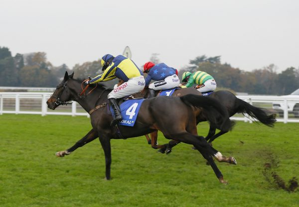 If The Cap Fits (Milan) winning the G2 Coral Hurdle at Ascot