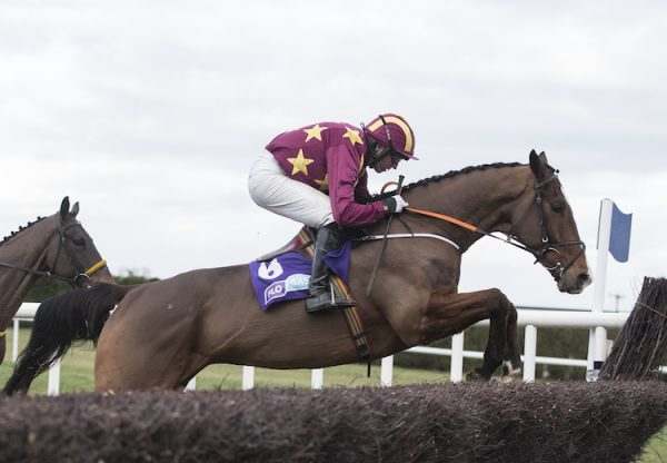 Monalee (Milan) winning the G1 G1 Flogas Novice Chase at Leopardstown