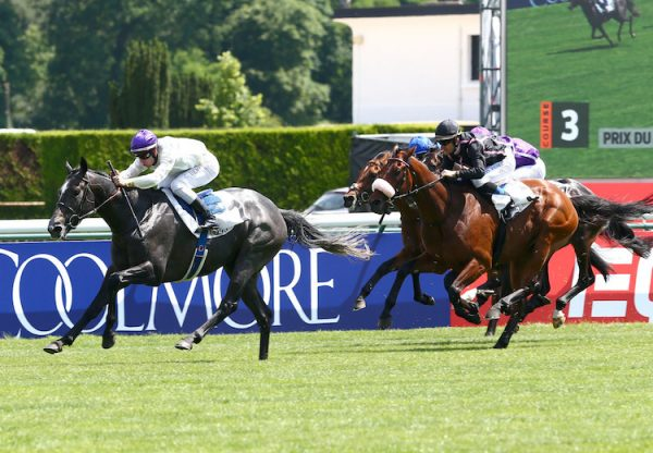 Neufbosc (Fastnet Rock) winning the G3 Prix du Lys at Longchamp