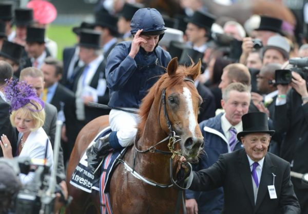 Ruler Of The World after winning the Epsom Derby