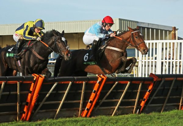 Verdana Blue (Getaway) winning the Gr.2 Elite Hurdle at Wincanton