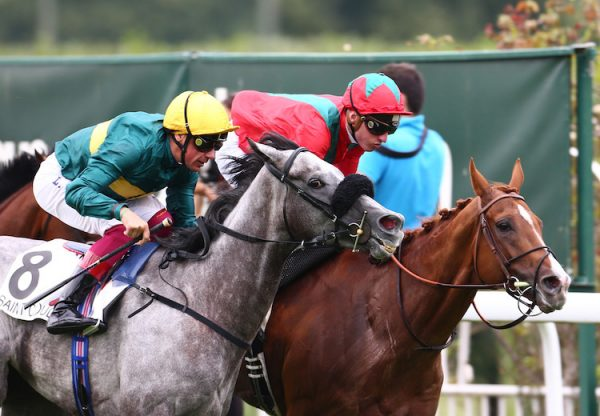 Waldgeist (Galileo) winning the G1 Grand Prix de Saint-Cloud