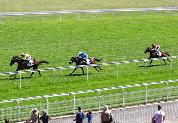We Go (No Nay Never) winning the Prix Riverman at Maisons-Laffitte