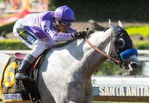 Cupid winning the Gold Cup at Santa Anita Stakes