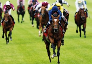 Galileo winning the Irish Derby
