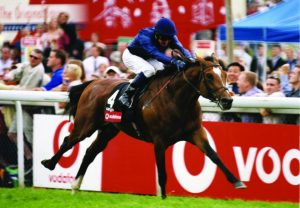 Galileo winning the Epsom Derby