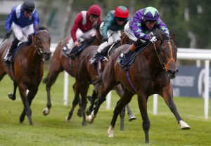 Ivawood winning the July Stakes at Newmarket
