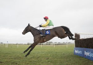 Acey Milan (Milan) winninga Listed Bumper at Cheltenham