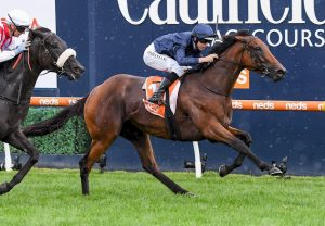 Exoteric (Champs Elysees) winning the Listed ATC Cup at Rosehill