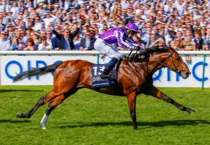 Saxon Warrior winning the G1 2000 Guineas at Newmarket
