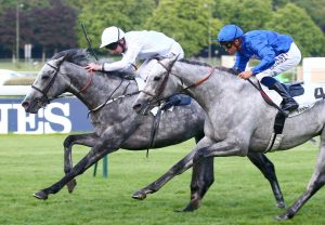 The Last Lion (Choisir) winning the G1 Middle Park Stakes at Newmarket