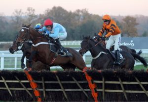 Welcoming (No Nay Never) winning a novice stakes at Haydock