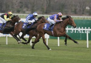 Zoffany winning his maiden at Leopardstown