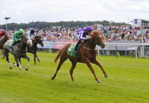Australia (Galileo) winning the Juddmonte International
