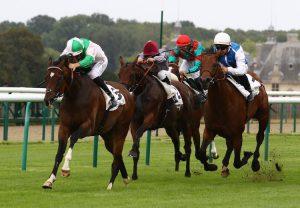 Soaring Star (Starspangledbanner) Wins The Novice Stakes At Ayr