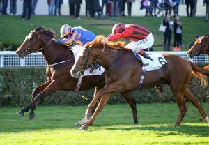 Olmedo (Declaration Of War) winning the G1 2000 Guineas at Paris Longchamp
